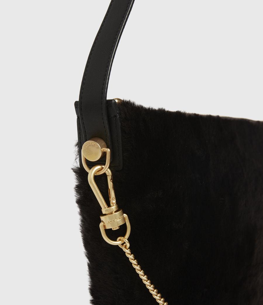 Womens Blake Pony Leather Shoulder Bag (peat_brown) - Image 6