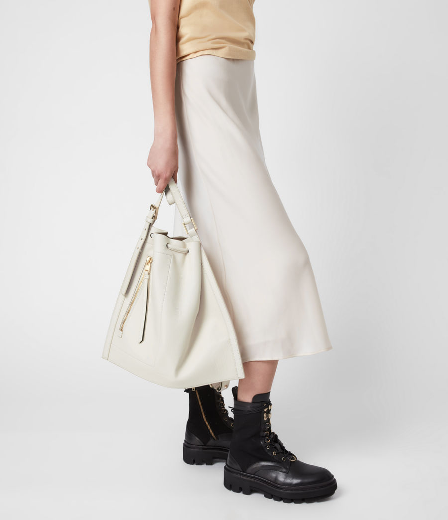 Womens Alpha Leather Backpack (roe_white) - Image 1