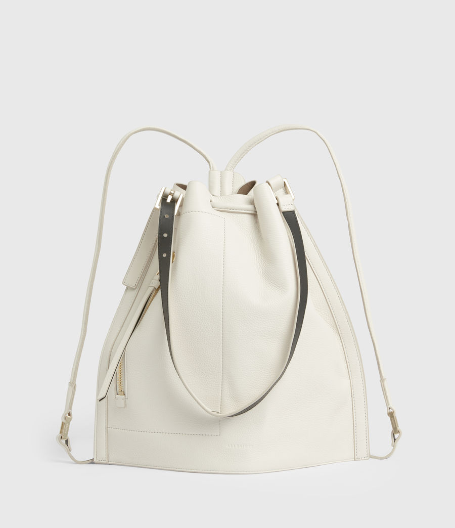 Womens Alpha Leather Backpack (roe_white) - Image 2