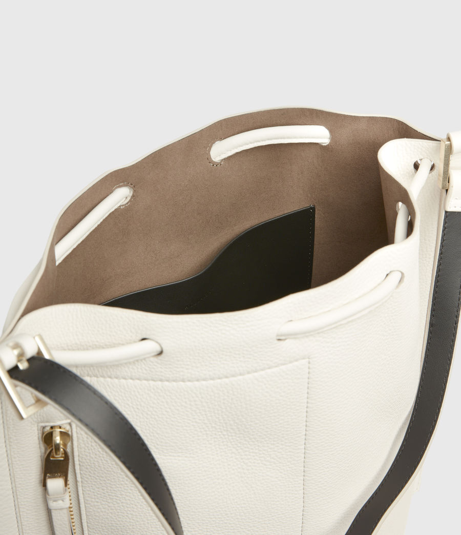 Womens Alpha Leather Backpack (roe_white) - Image 3