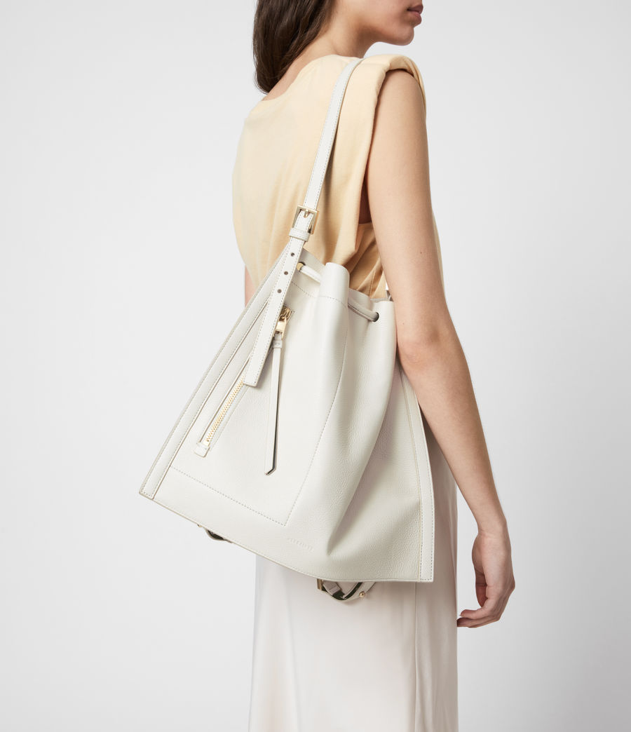 Womens Alpha Leather Backpack (roe_white) - Image 4