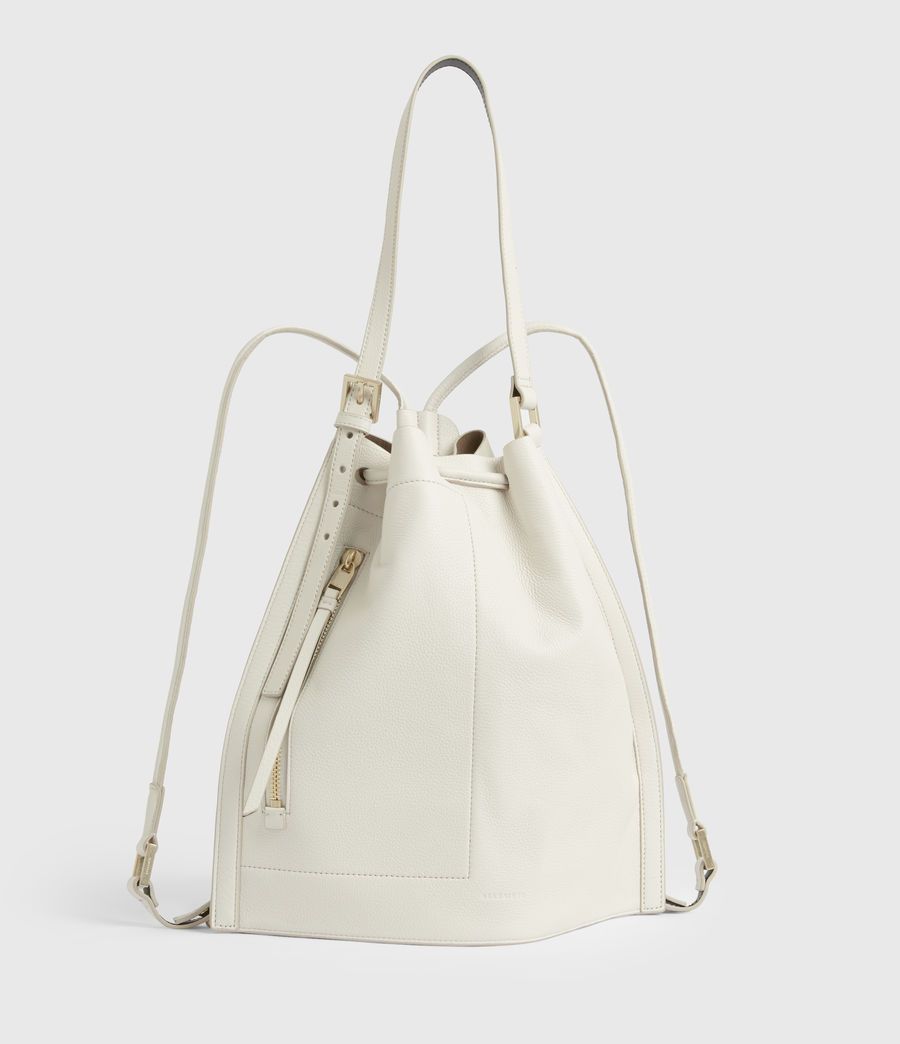 Womens Alpha Leather Backpack (roe_white) - Image 5