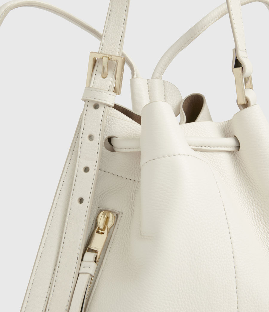 Womens Alpha Leather Backpack (roe_white) - Image 6