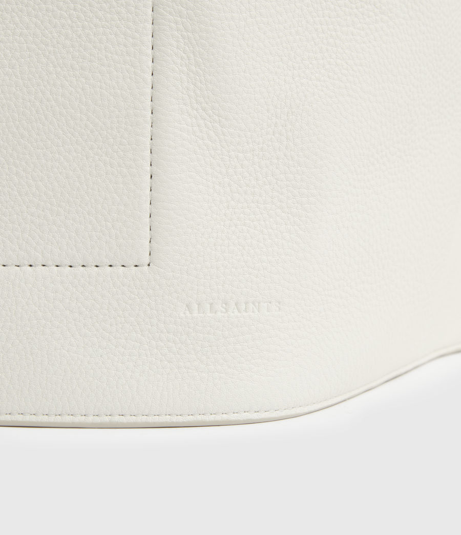 Women's Alpha Leather Backpack (roe_white) - Image 7