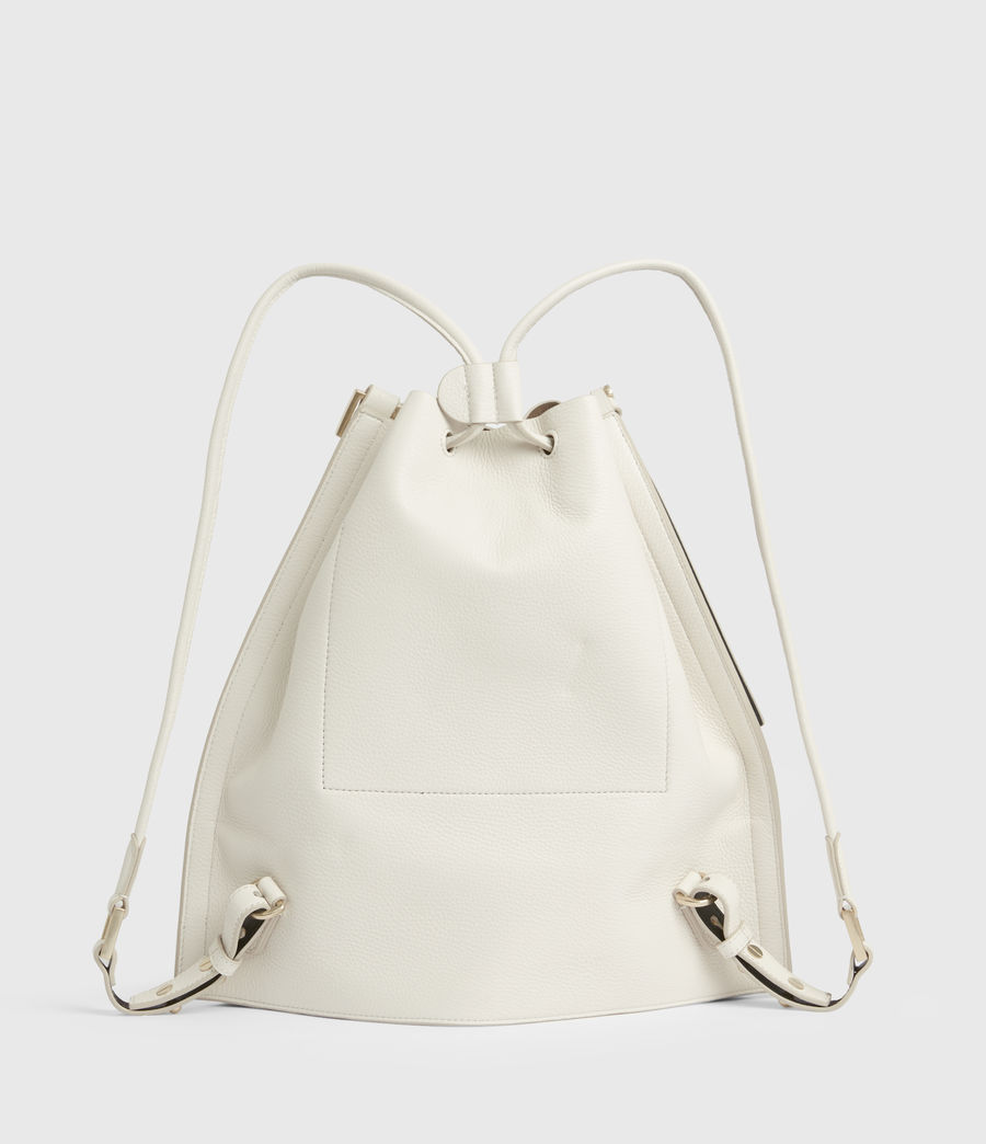 Women's Alpha Leather Backpack (roe_white) - Image 8