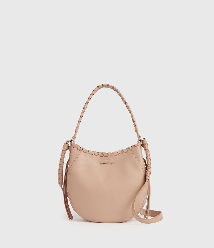 Women's Adina Small Leather Hobo Bag (nude_pink) - Image 1