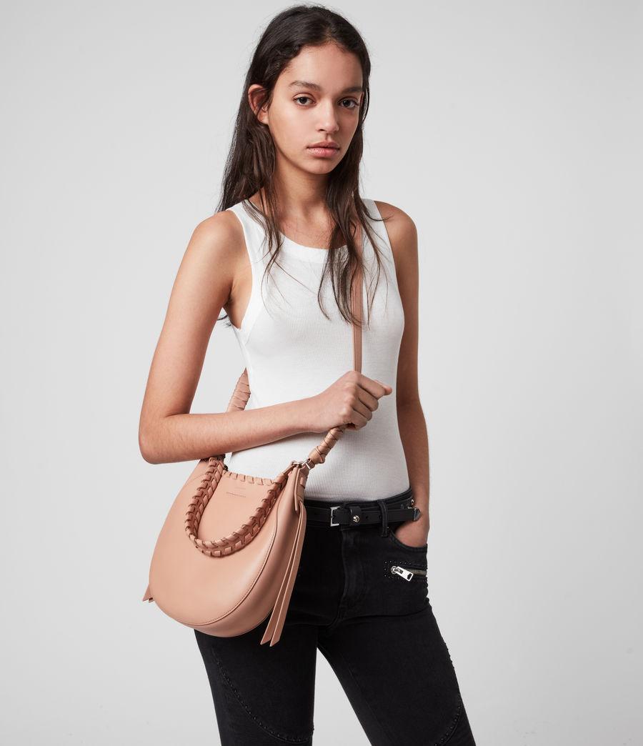 Women's Adina Small Leather Hobo Bag (nude_pink) - Image 2