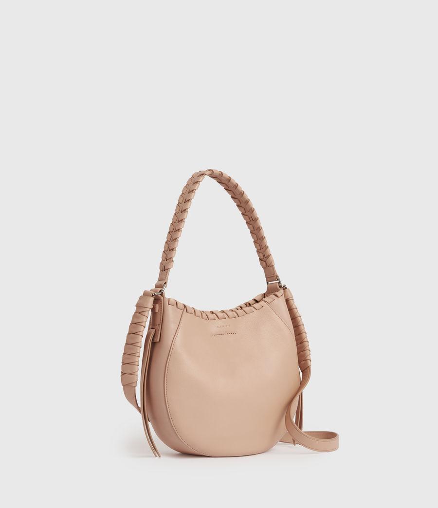 Women's Adina Small Leather Hobo Bag (nude_pink) - Image 3