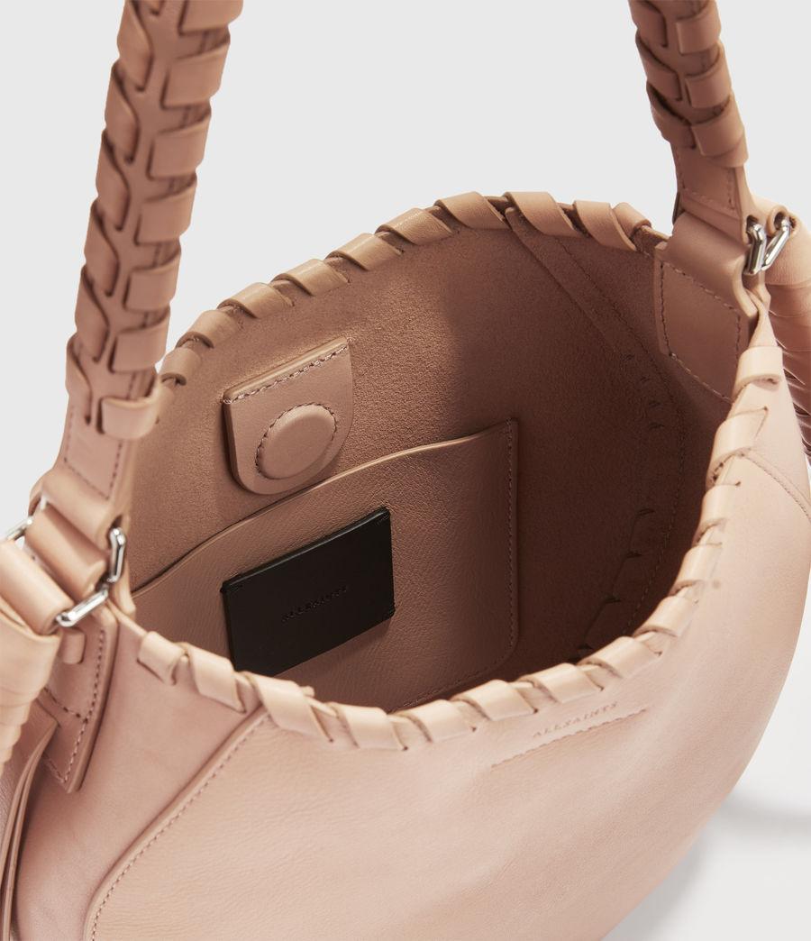 Women's Adina Small Leather Hobo Bag (nude_pink) - Image 4
