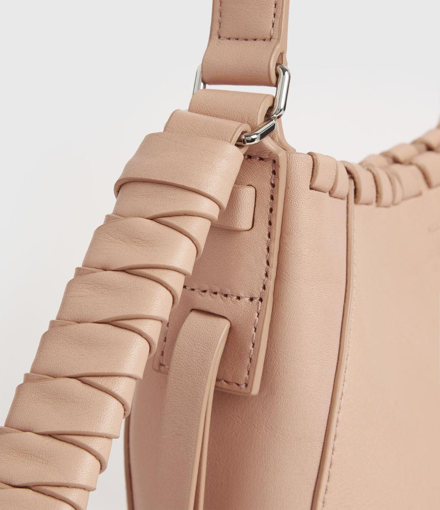 Women's Adina Small Leather Hobo Bag (nude_pink) - Image 6