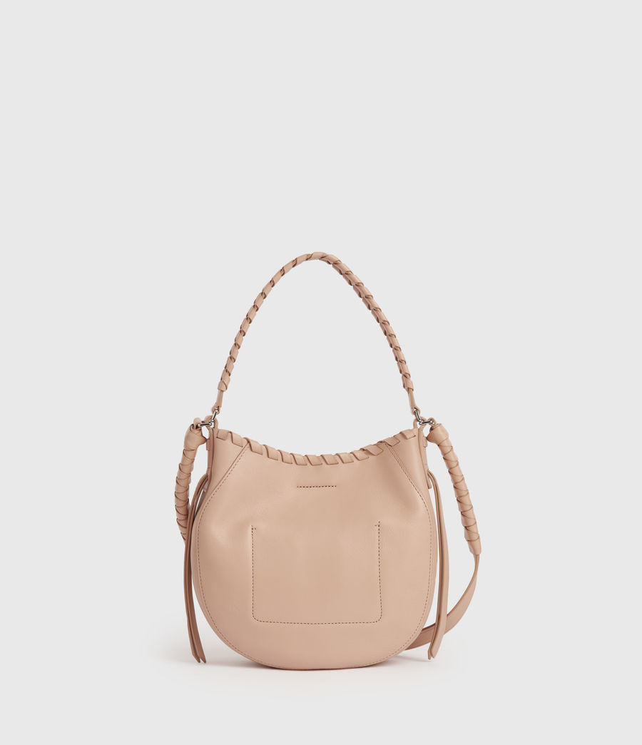 Women's Adina Small Leather Hobo Bag (nude_pink) - Image 7