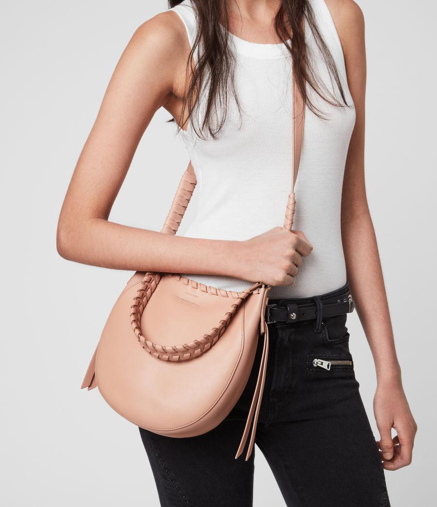 Women's Adina Small Leather Hobo Bag (nude_pink) - Image 8