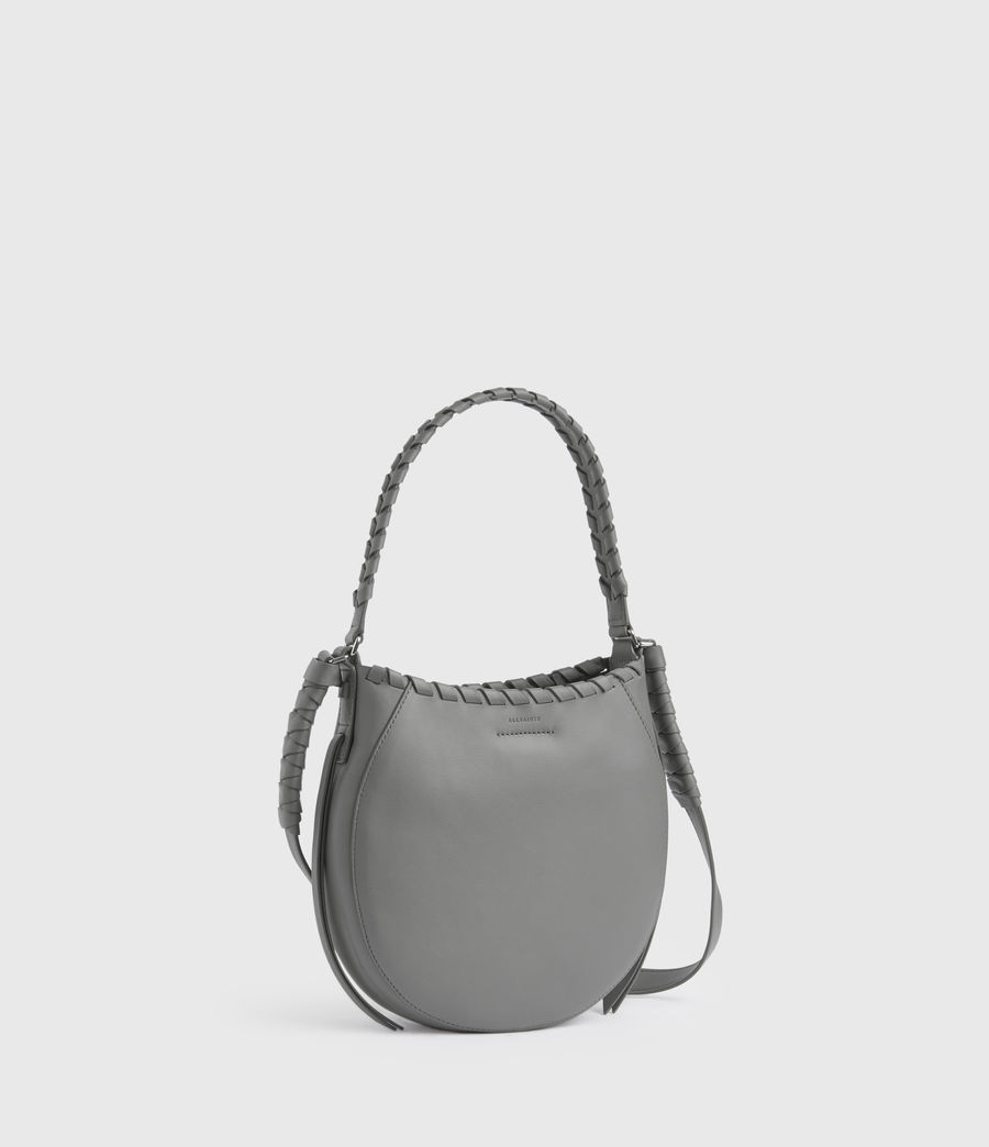Women's Adina Small Leather Hobo Bag (graphite_grey) - Image 1
