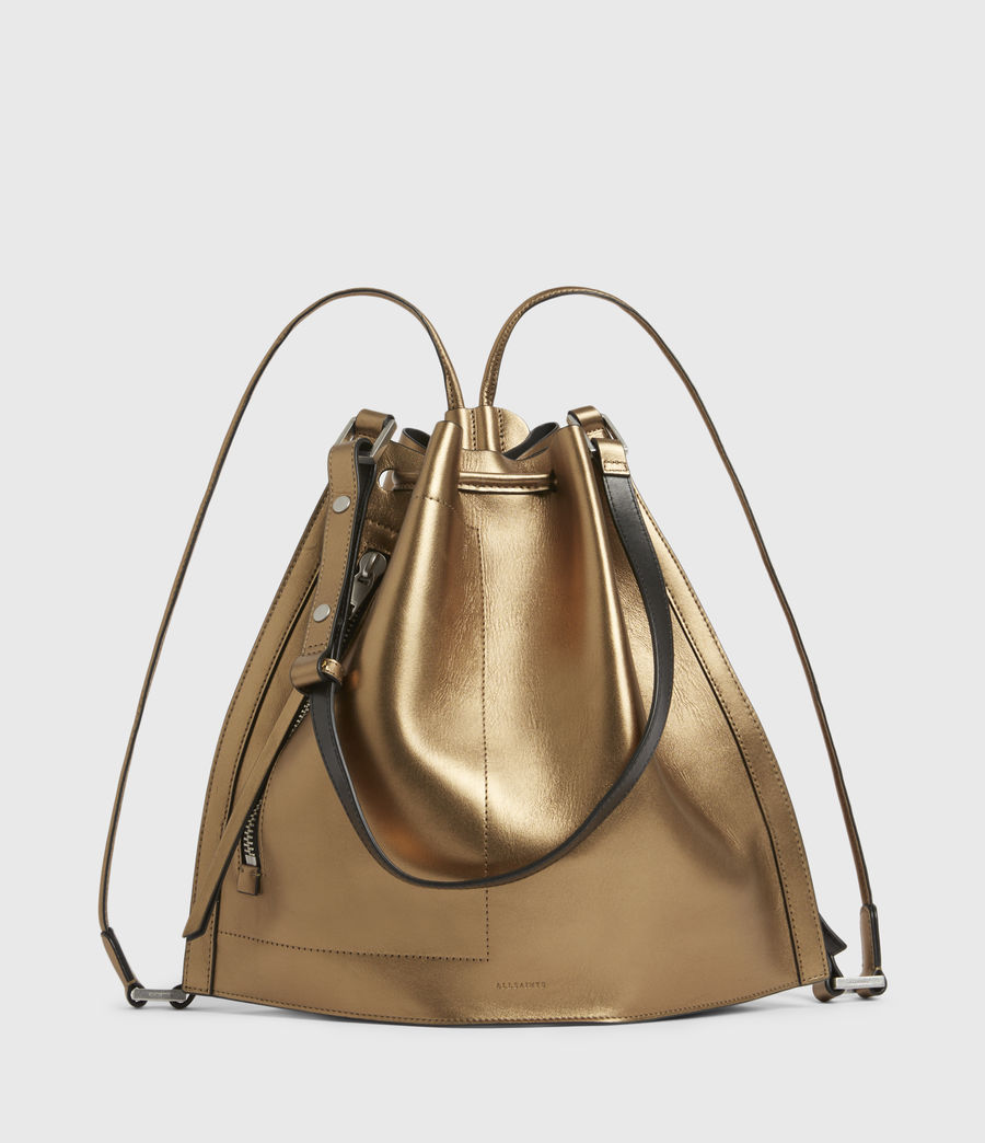 Womens Lear Leather Backpack (gold) - Image 2