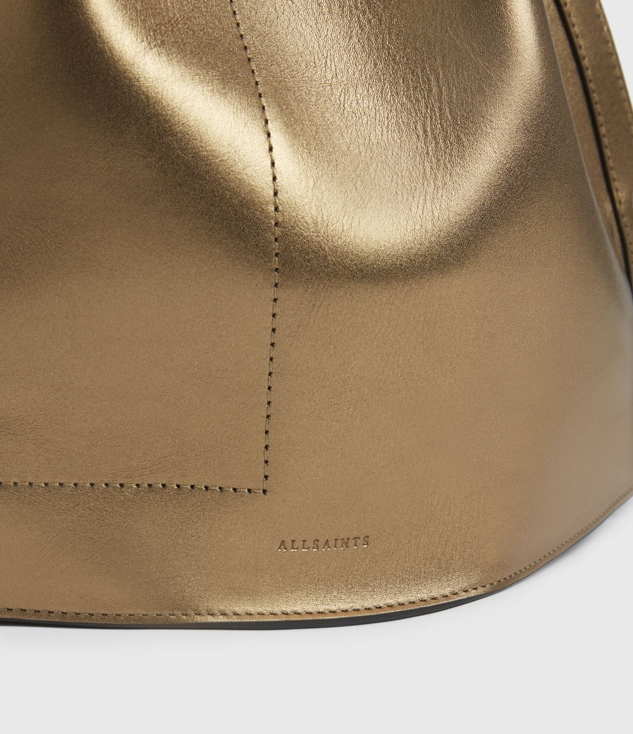 Womens Lear Leather Backpack (gold) - Image 6