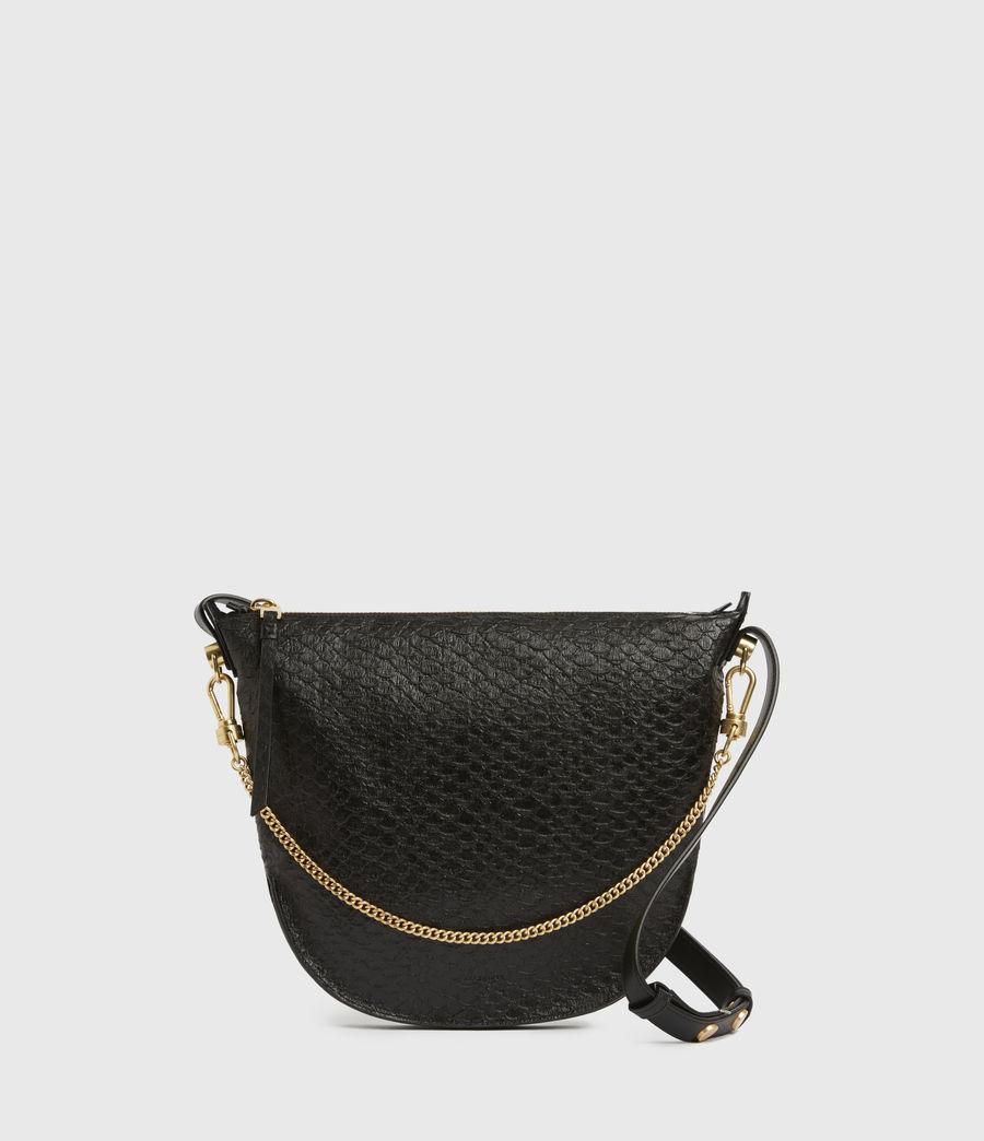 Womens Blake Leather Shoulder Bag (black_python) - Image 1