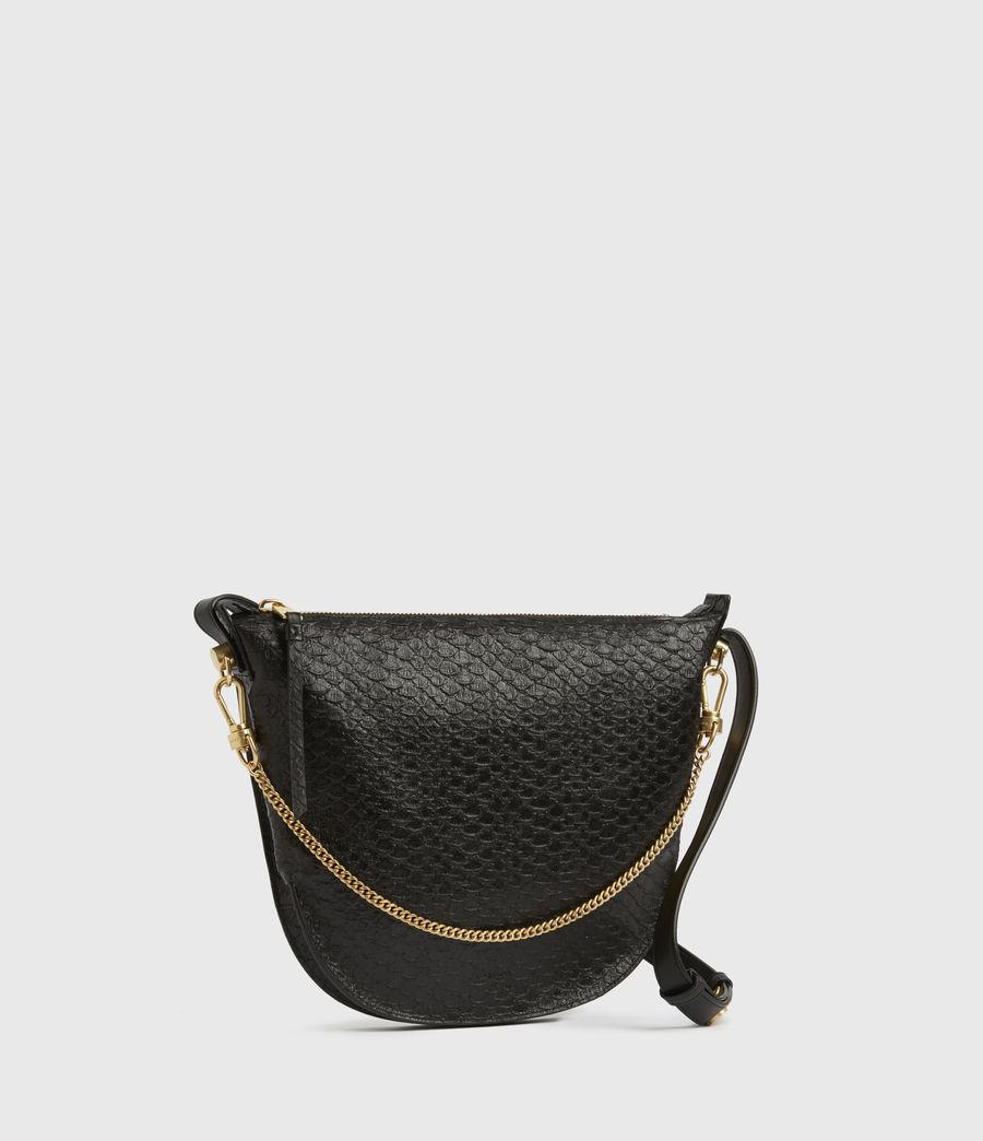 Womens Blake Leather Shoulder Bag (black_python) - Image 3