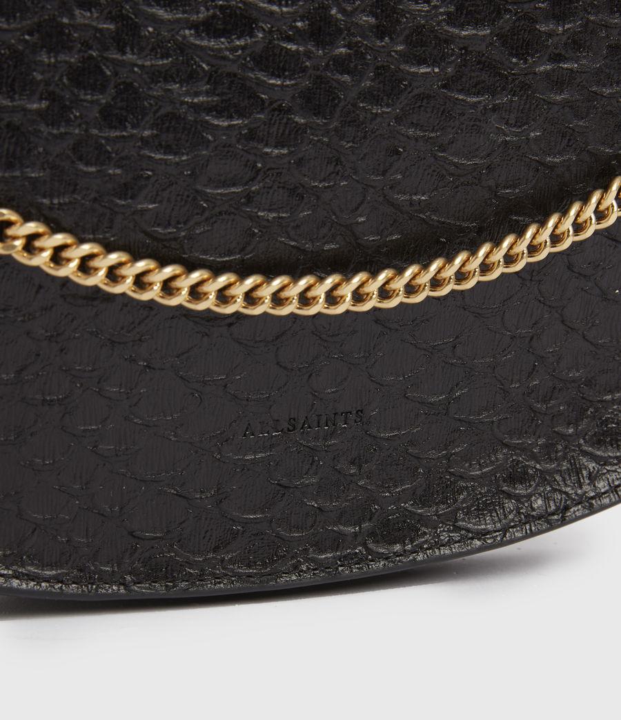 Womens Blake Leather Shoulder Bag (black_python) - Image 4