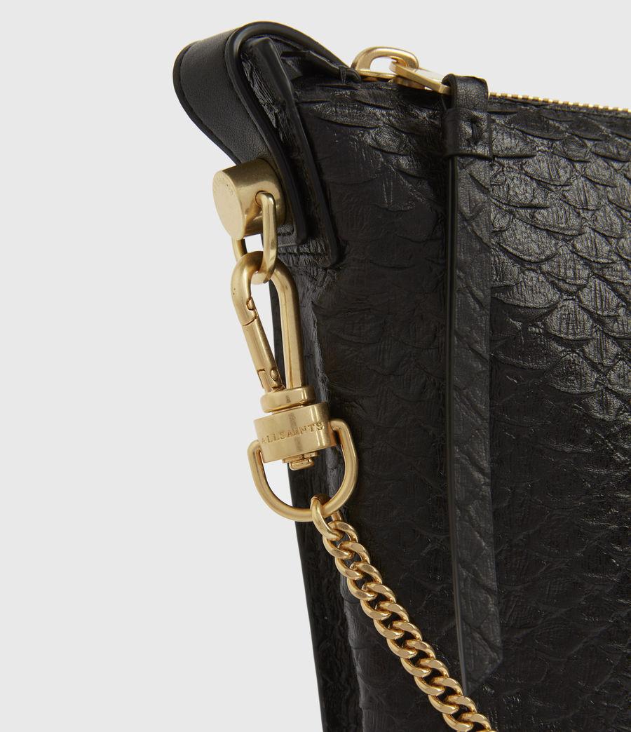Womens Blake Leather Shoulder Bag (black_python) - Image 5