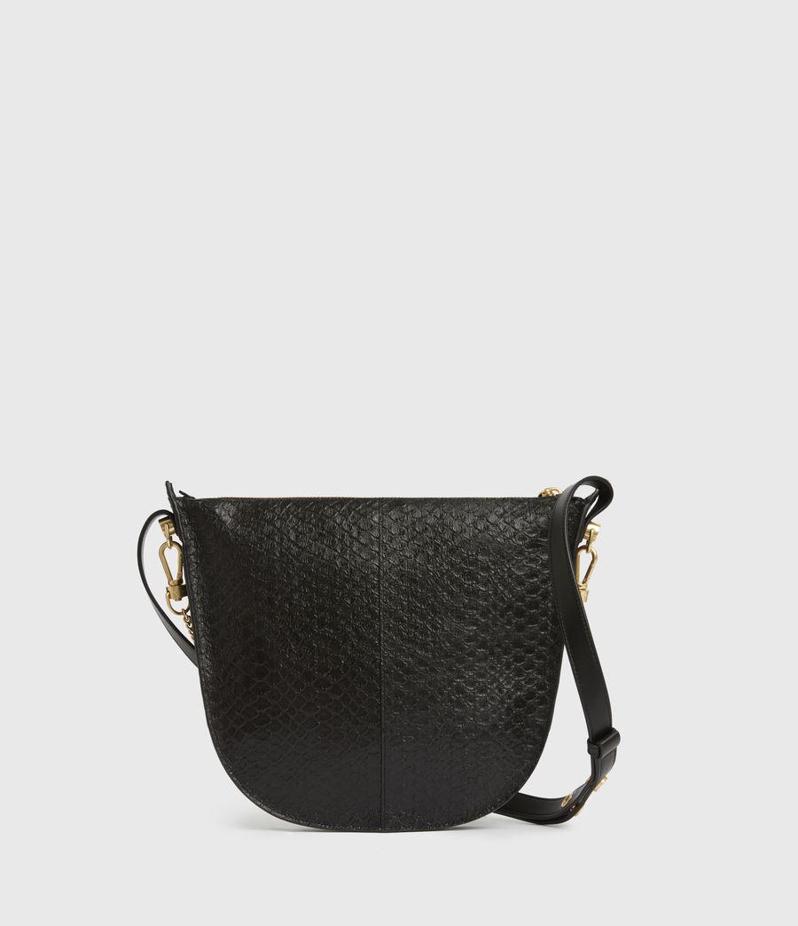Womens Blake Leather Shoulder Bag (black_python) - Image 6
