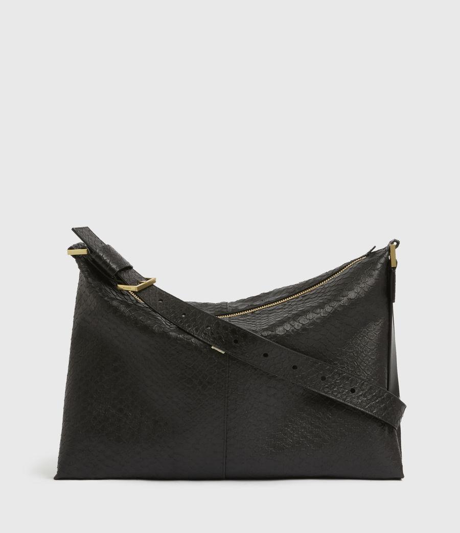 Womens Edbury Leather Shoulder Bag (black_python) - Image 1