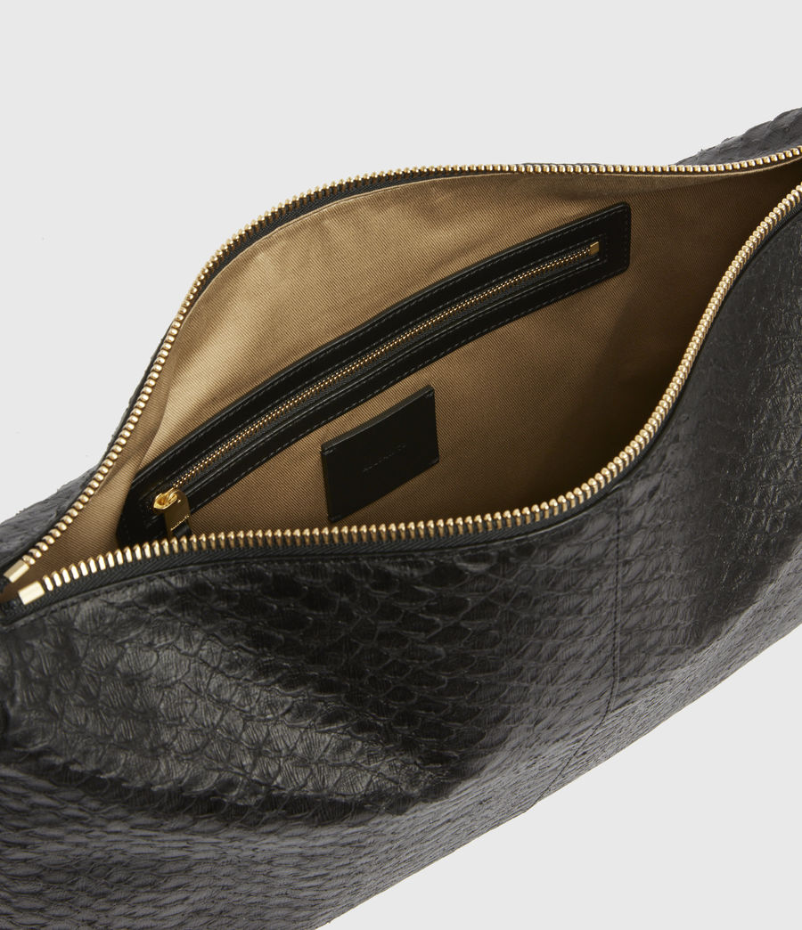 Womens Edbury Leather Shoulder Bag (black_python) - Image 2