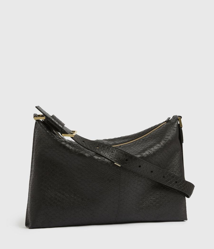 Womens Edbury Leather Shoulder Bag (black_python) - Image 3