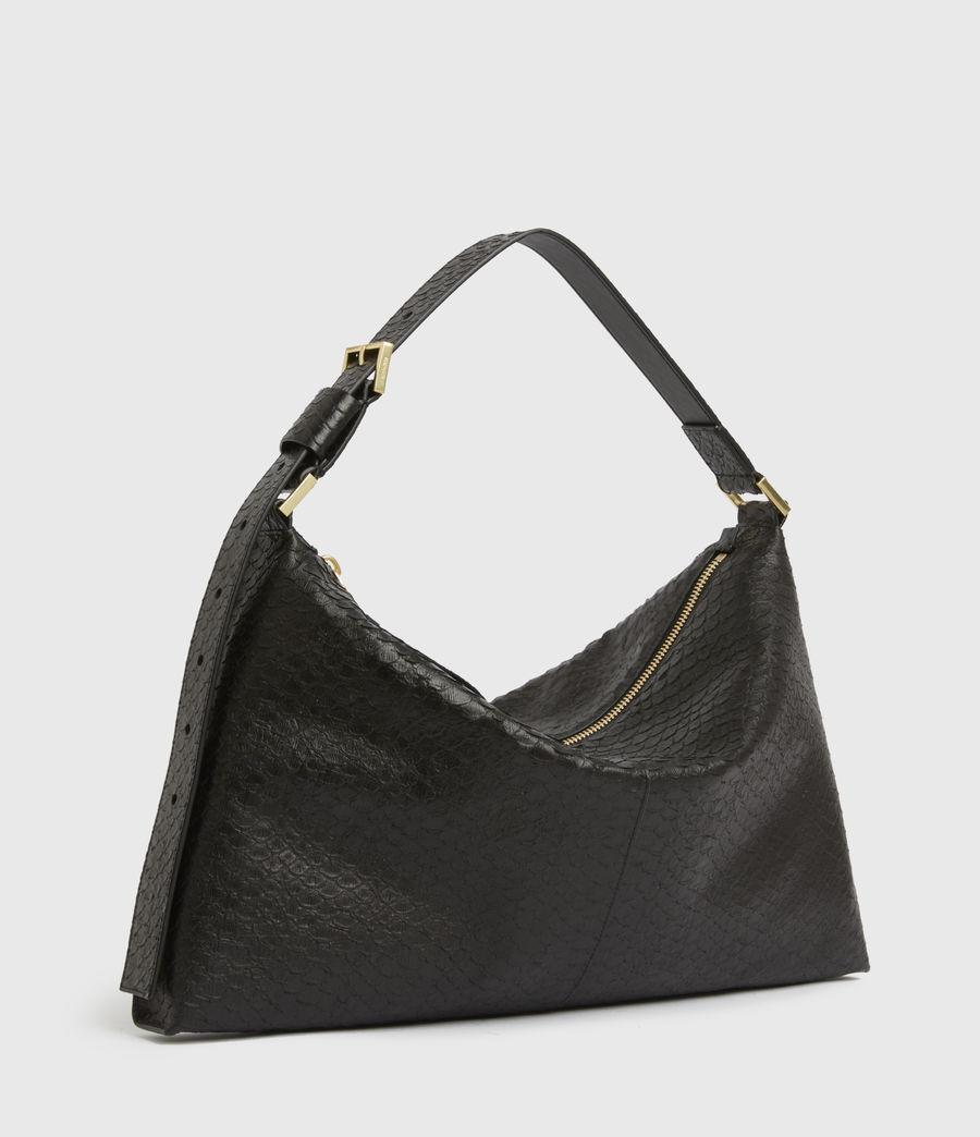 Womens Edbury Leather Shoulder Bag (black_python) - Image 5