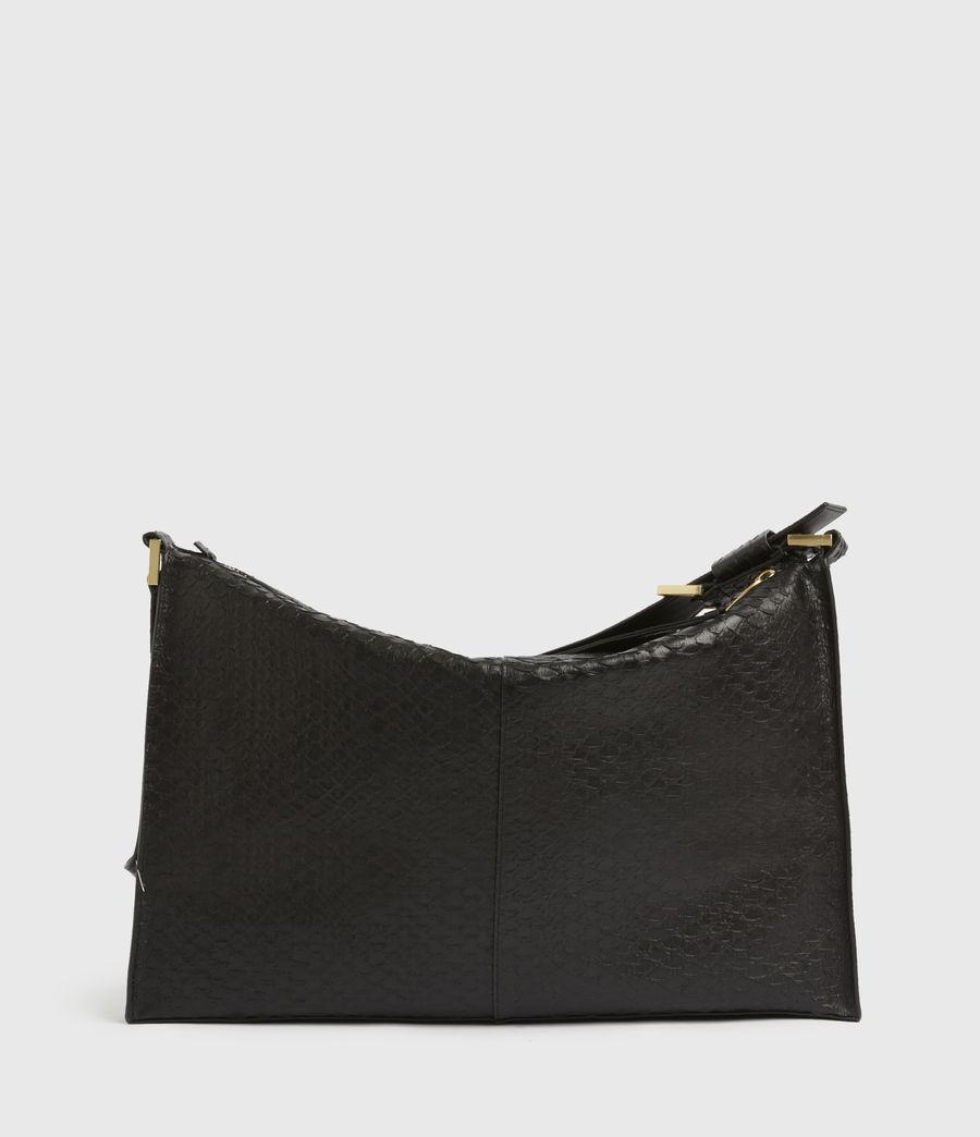 Womens Edbury Leather Shoulder Bag (black_python) - Image 6