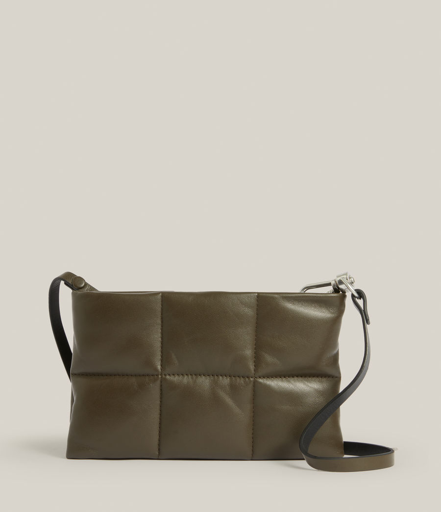 Women's Mila Leather Quilted Pouch Bag (dusky_khaki) - Image 2