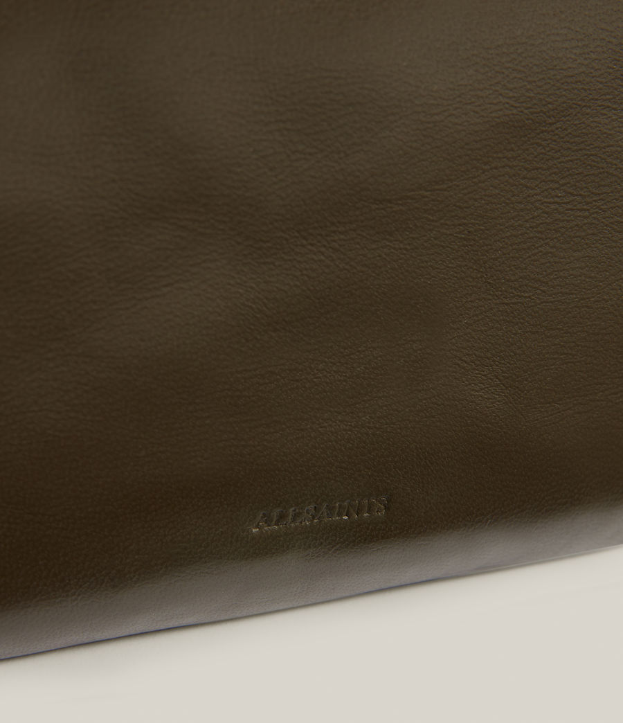 Women's Mila Leather Quilted Pouch Bag (dusky_khaki) - Image 7