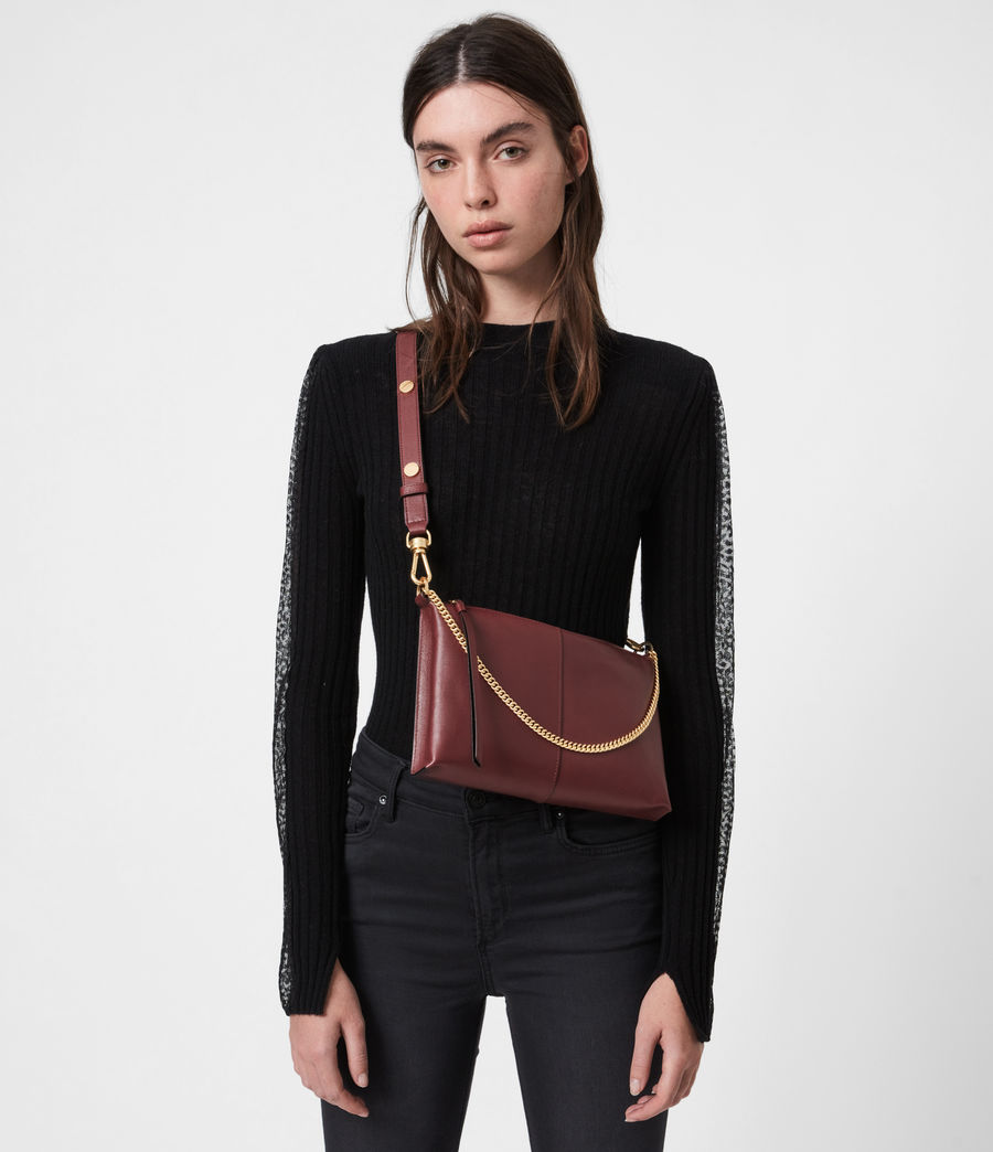 Womens Eve Leather Crossbody Bag (burnt_sienna_red) - Image 1