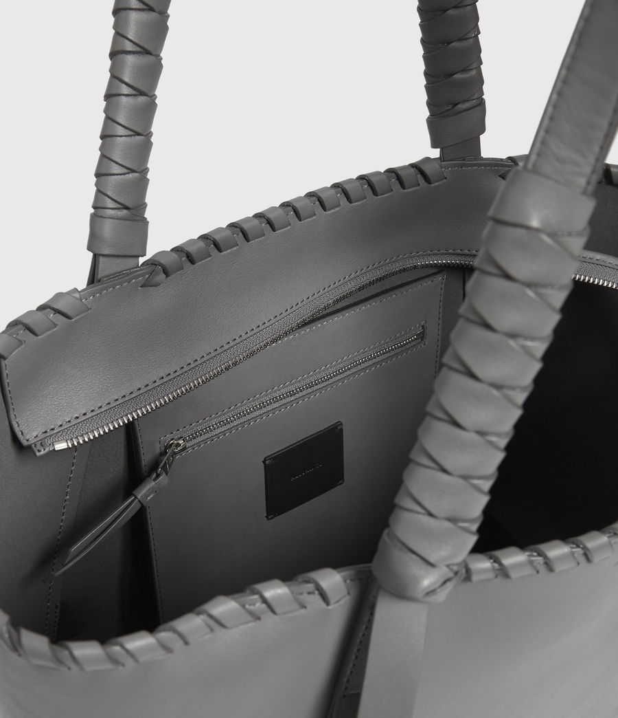 Donne Holston Small East West Tote Bag (graphite_grey) - Image 4