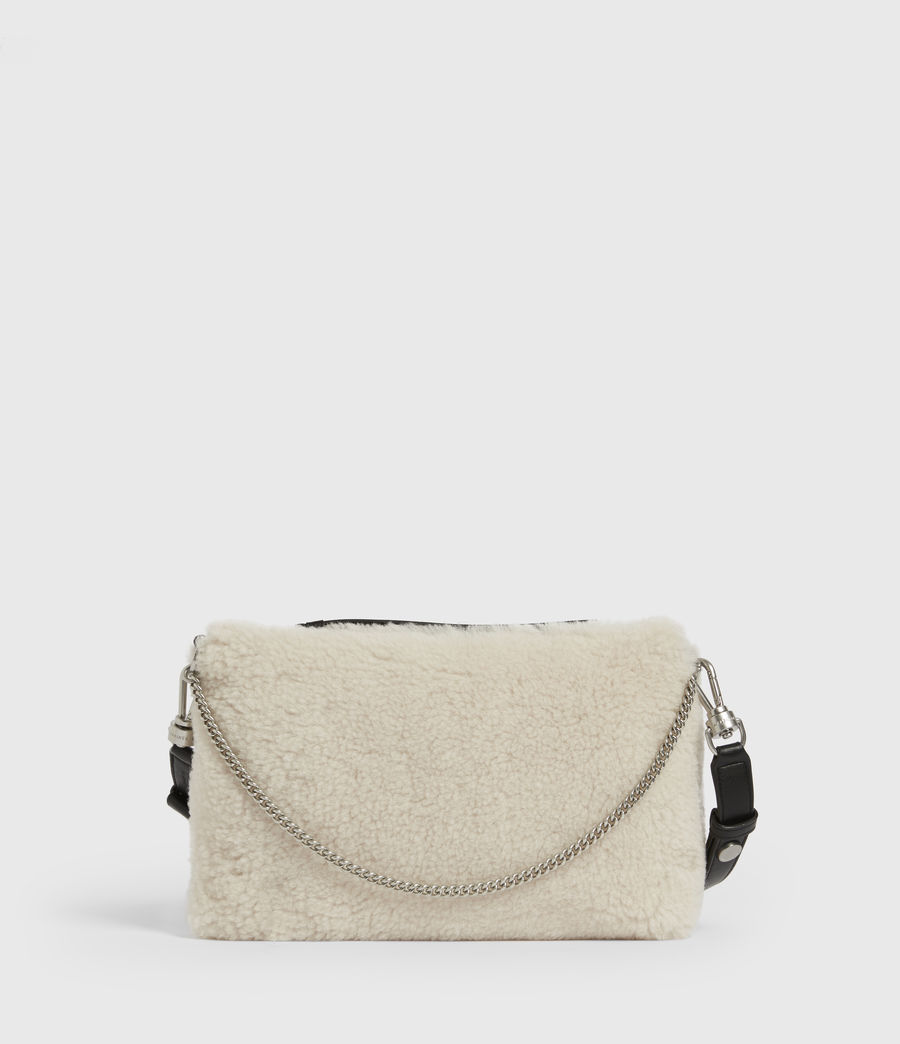 Womens Eve Shearling Crossbody Bag (cream) - Image 2