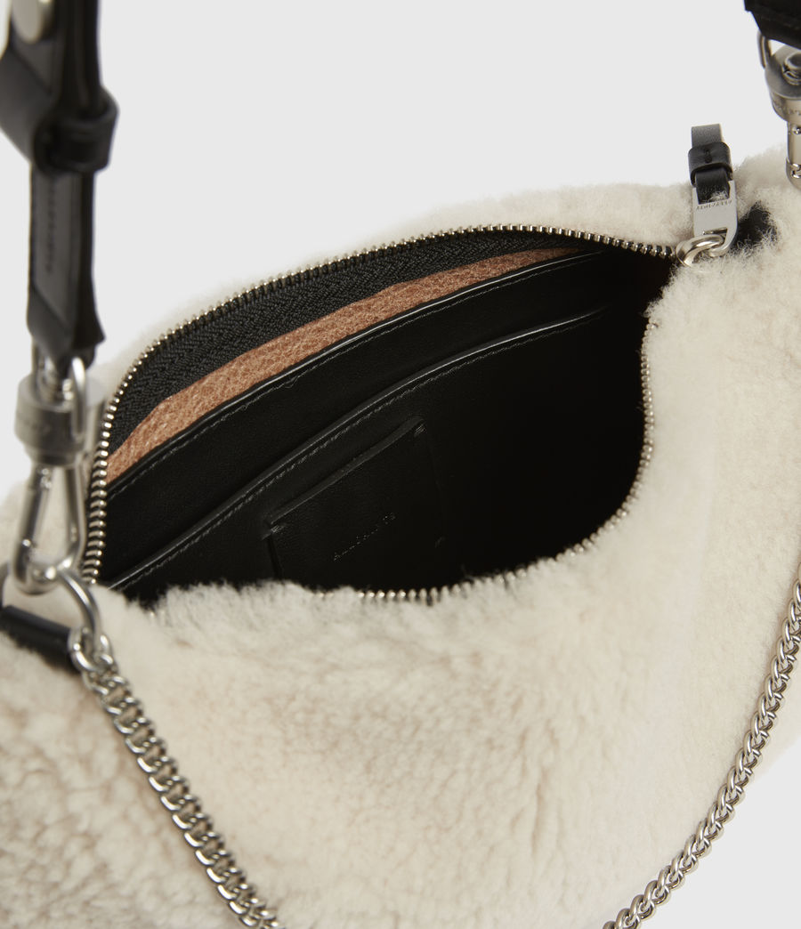 Womens Eve Shearling Crossbody Bag (cream) - Image 3