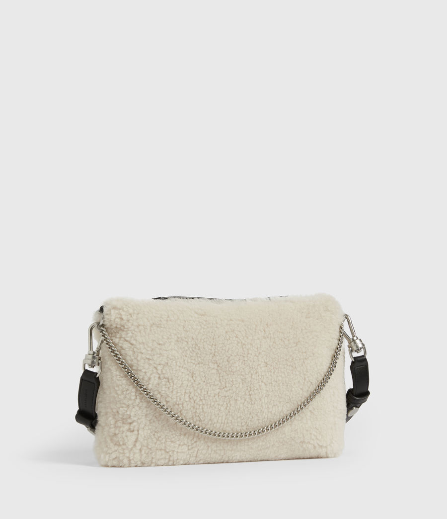 Womens Eve Shearling Crossbody Bag (cream) - Image 4