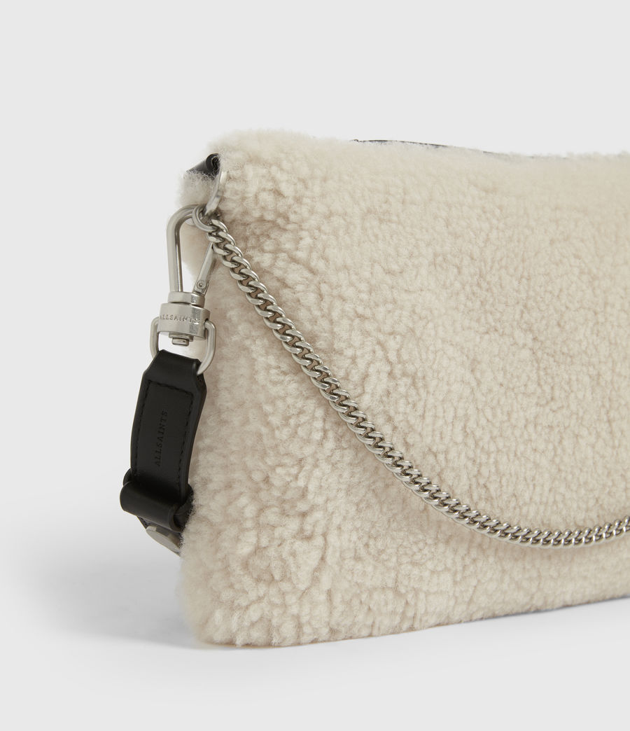 Womens Eve Shearling Crossbody Bag (cream) - Image 5