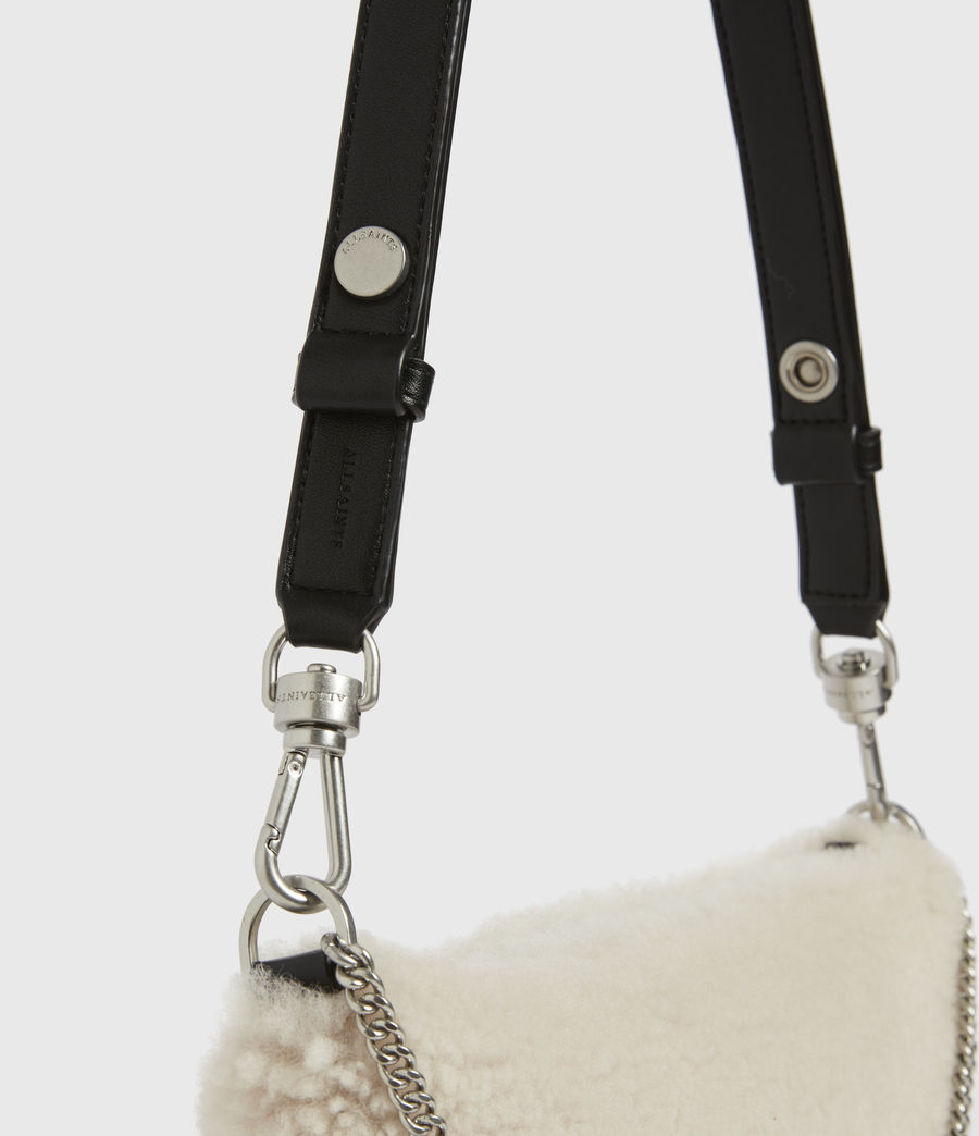 Womens Eve Shearling Crossbody Bag (cream) - Image 6