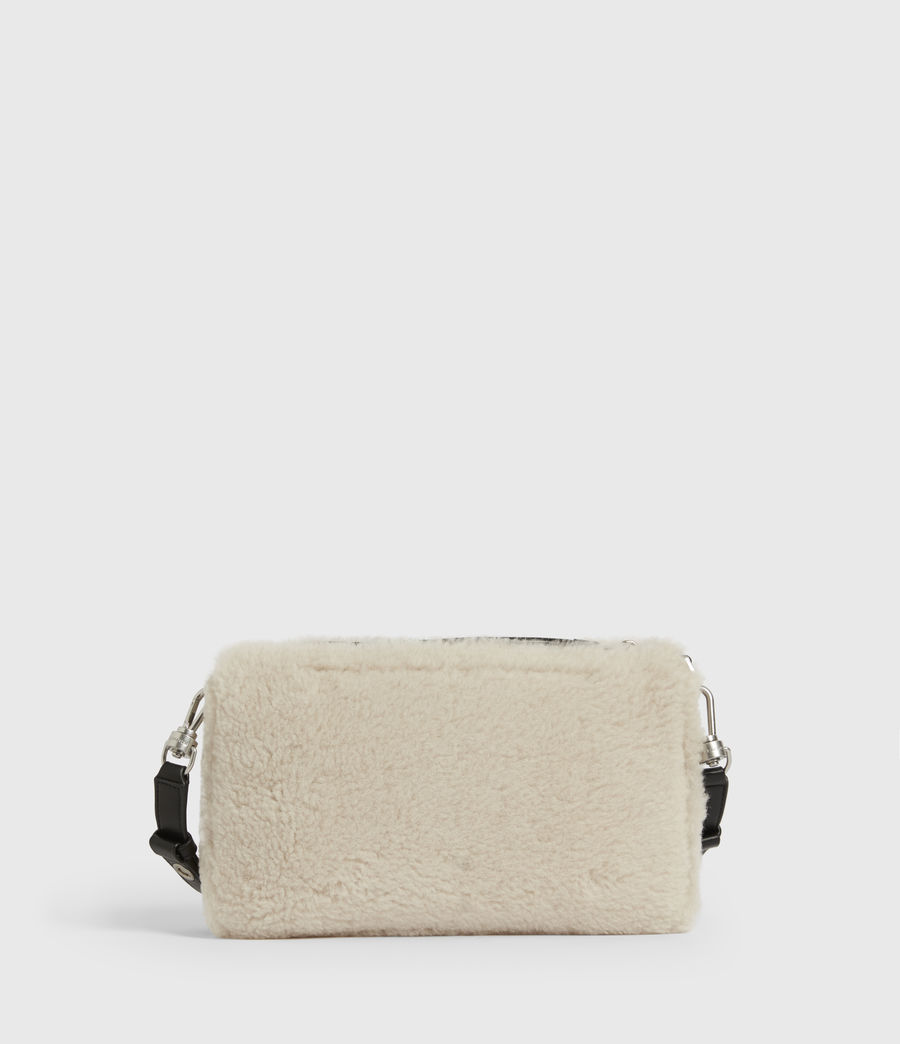 Womens Eve Shearling Crossbody Bag (cream) - Image 7