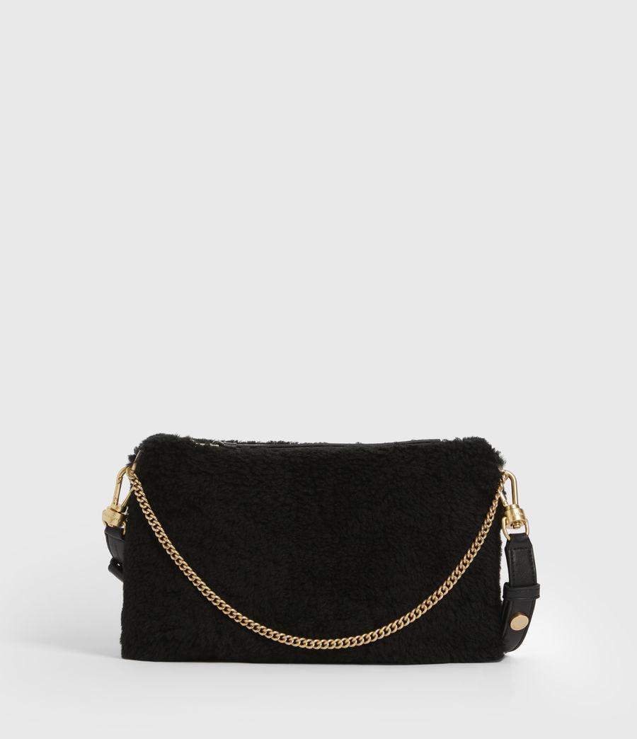 Womens Eve Shearling Crossbody Bag (black) - Image 2