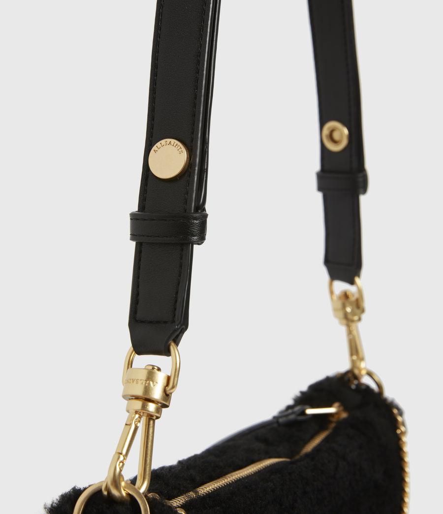 Womens Eve Shearling Crossbody Bag (black) - Image 6