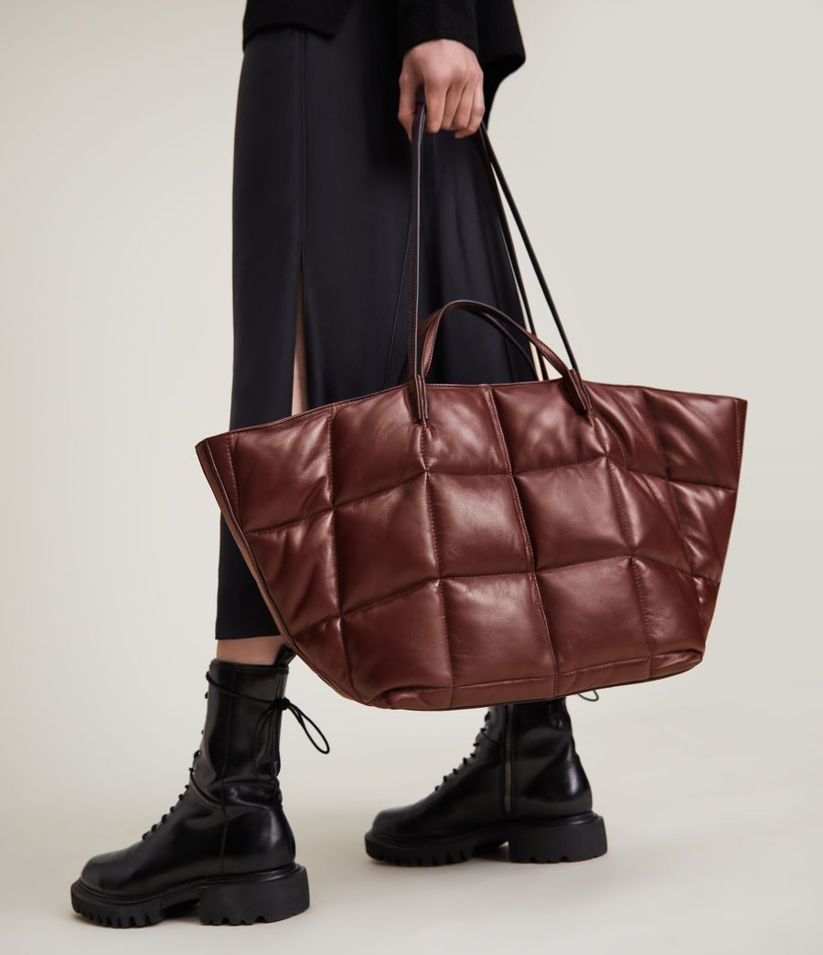 Women's Nadaline Quilted Tote Bag (oxblood_brown) - Image 1
