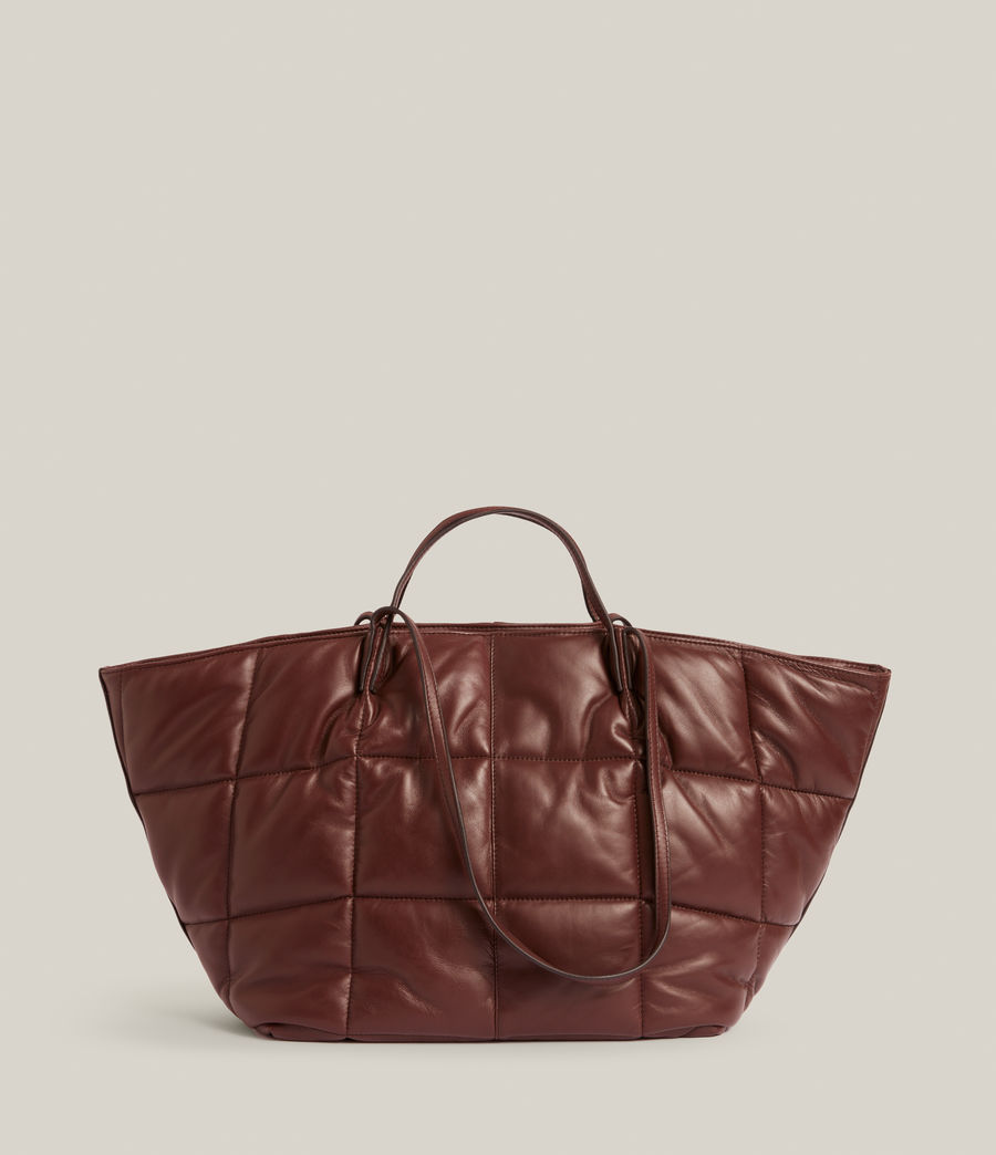 Women's Nadaline Quilted Tote Bag (oxblood_brown) - Image 2