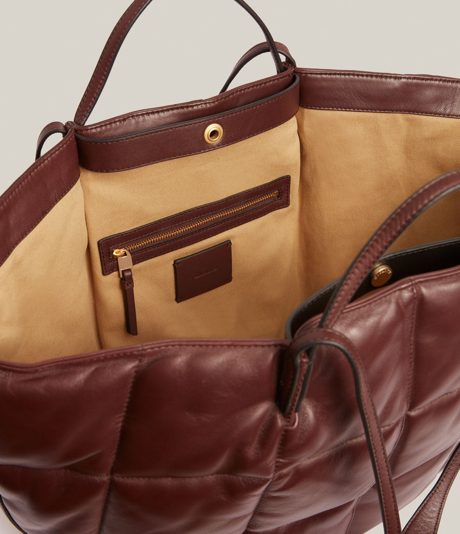 Women's Nadaline Quilted Tote Bag (oxblood_brown) - Image 3