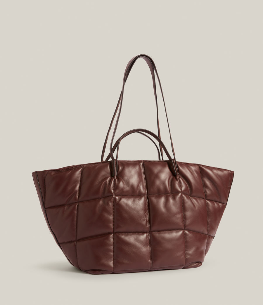 Women's Nadaline Quilted Tote Bag (oxblood_brown) - Image 4