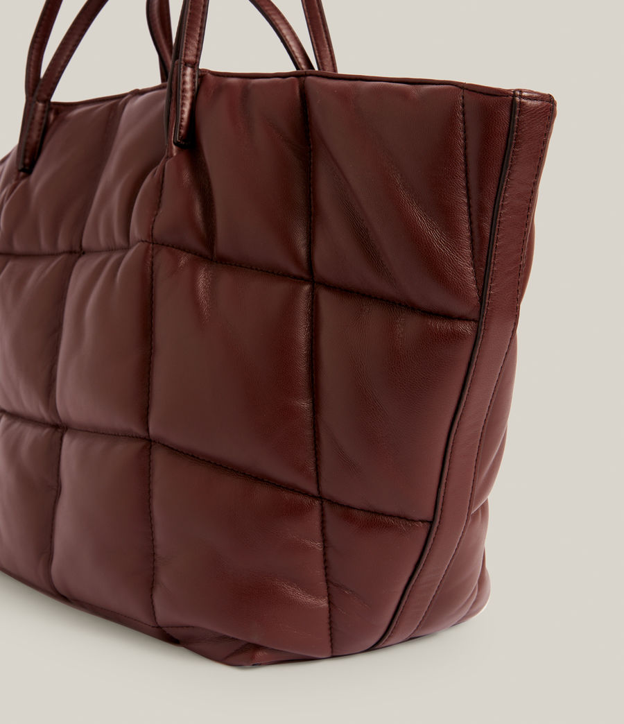 Women's Nadaline Quilted Tote Bag (oxblood_brown) - Image 5