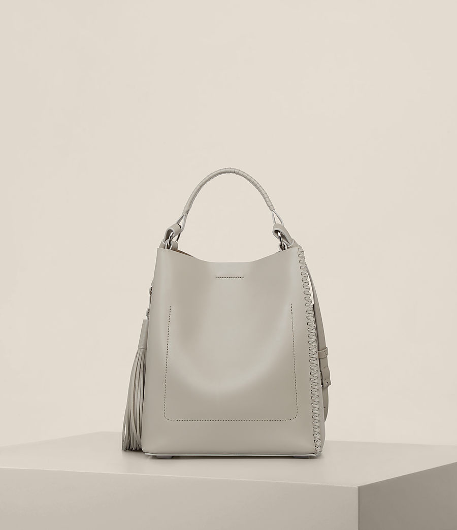 Womens Pearl Mini Hobo Bag (light_cement_grey) - Image 7