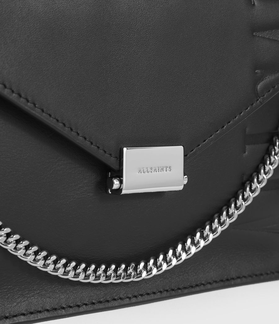 Womens Albion Leather Shoulder Bag (black) - Image 3