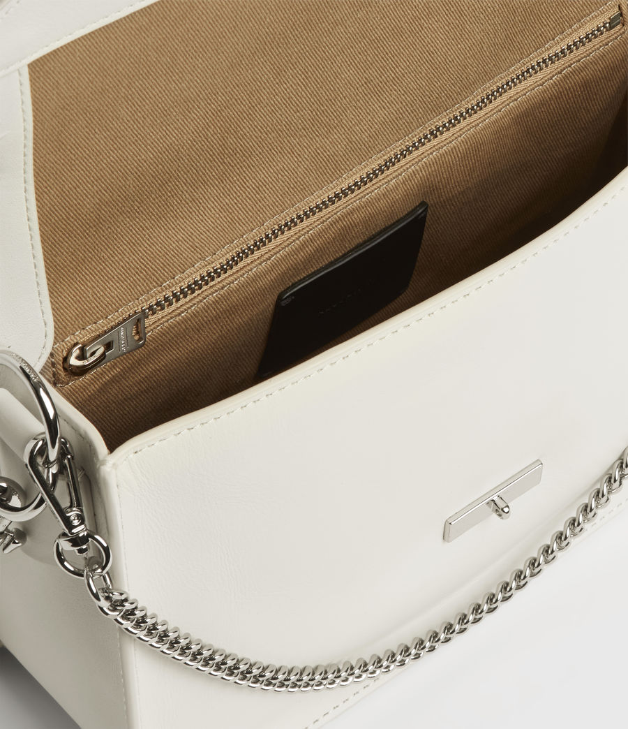 Women's Redchurch Leather Shoulder Bag (chalk_white) - Image 3