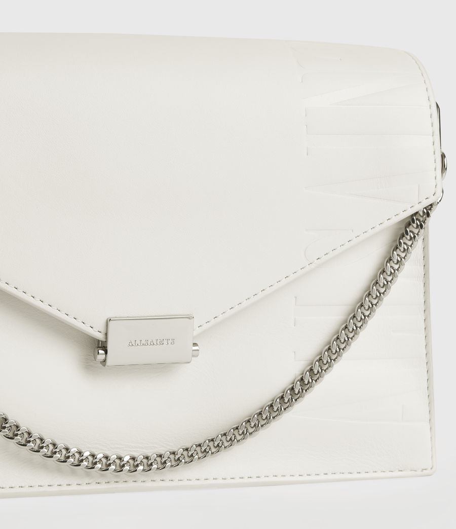 Women's Redchurch Leather Shoulder Bag (chalk_white) - Image 4
